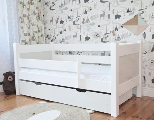 Niskie łóżko podówjne - dla dziewczynek i chłopców. Łożko białe