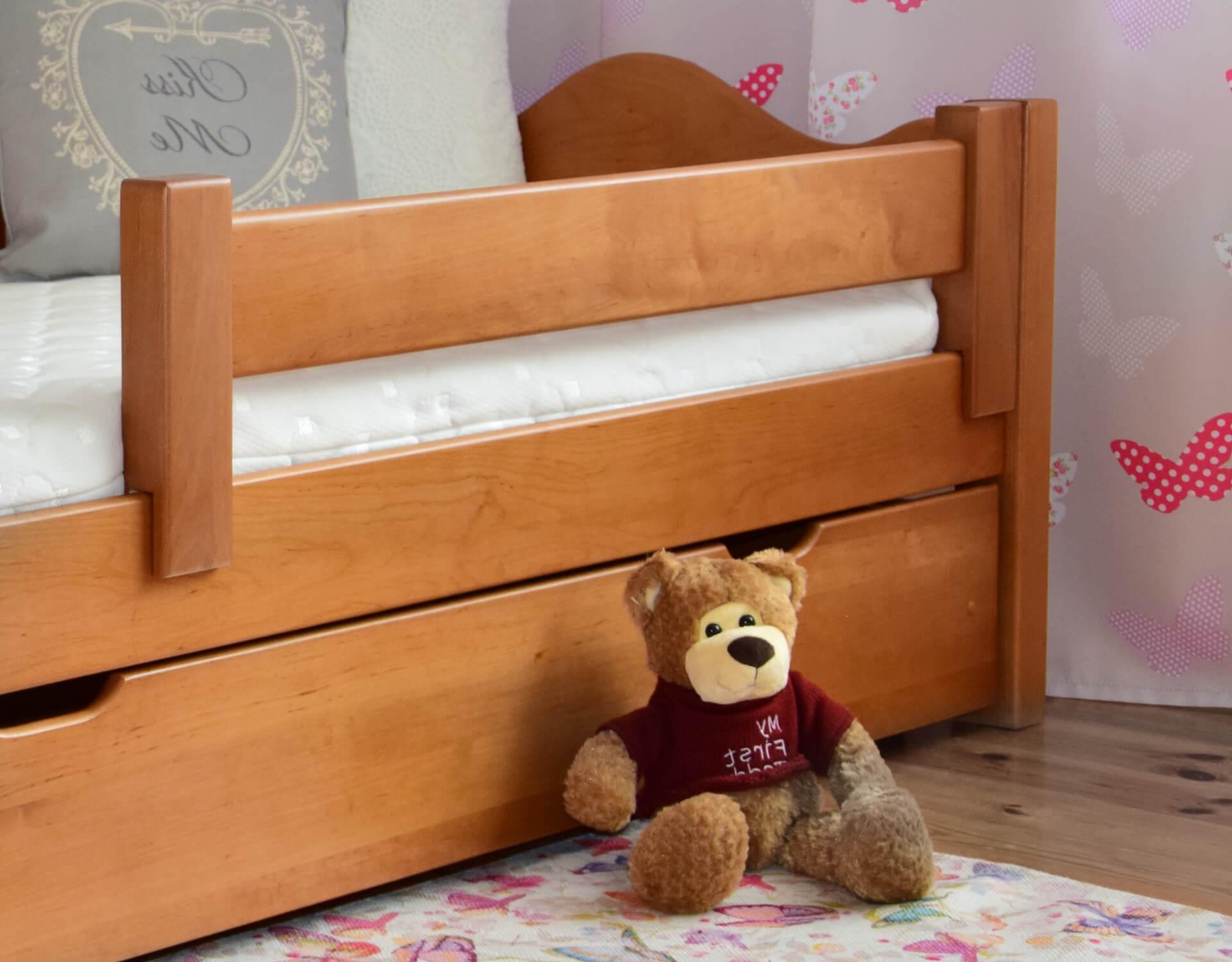 łóżko Dla Dzieci Dutti 160 X 80 Falisty Szczyt Miodowy