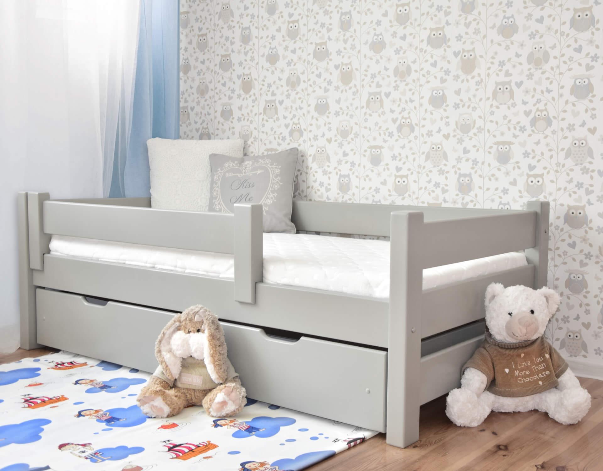 łóżko Dla Dzieci Dutti 160 X 80 Proste Szczyty Szary