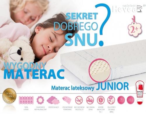 Materac 100% lateksowy Junior Hevea aegis