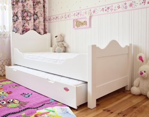 """Łóżko """"Klara"""" piętrowa 180 x 80 z łóżkiem w szufladzie..."""