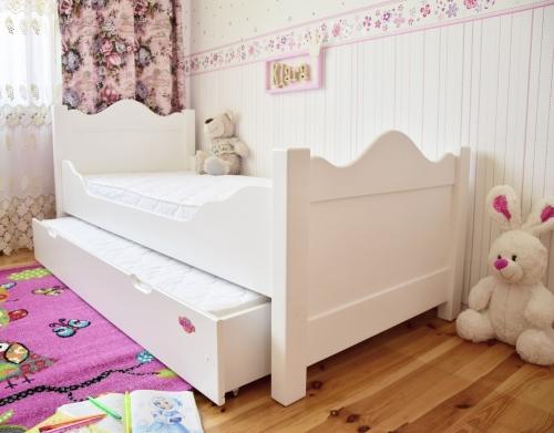 łóżko Klara Piętrowa 180 X 80 Z łóżkiem W Szufladzie 160 X 70