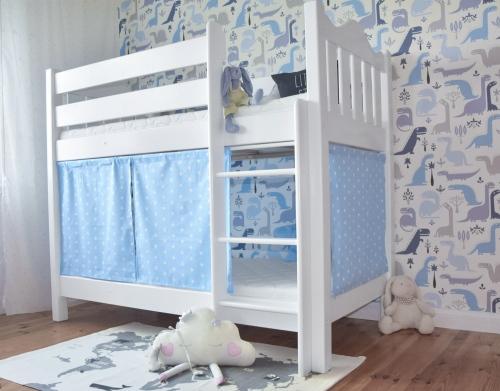 Łóżko dla dwójki dzieci, łóżko piętrowe z drewna  ,...