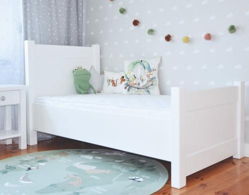 """Białe łóżko młodzieżowe """"MERAVI """""""