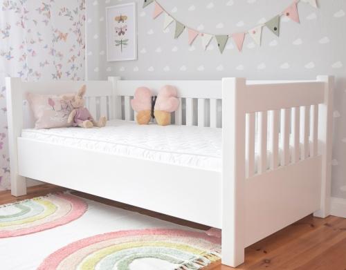 """Łóżko drewniane , solidne łóżko , białe łóżko , - Sofka """"..."""