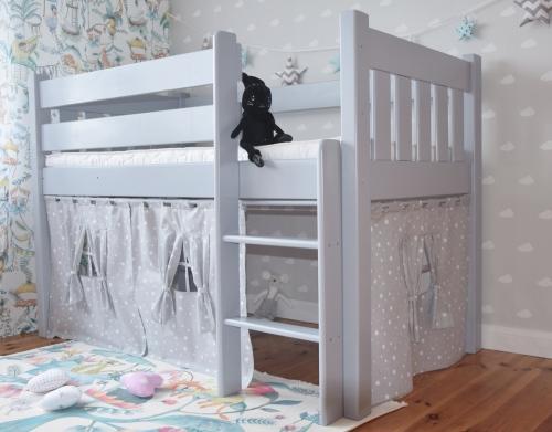 Łóżko dla dzieci drewniane , łóżko z zasłonkami , łóżko...