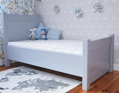 Szare łóżko , łóżko drewniane , łóżko młodzieżowe , łóżko...