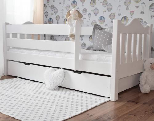 Łóżko MAX 160 x 80 falisty szczyt, białe