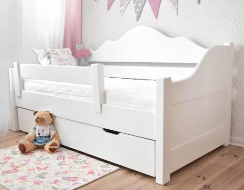 Łóżko Sofa NASTAZJA  drewno, białe