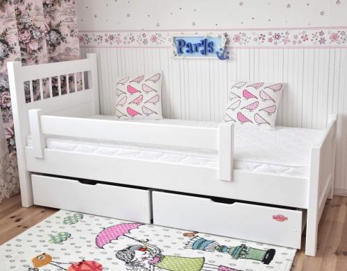Łóżko młodzieżowe PARYS 180x80  +barierka i szuflady